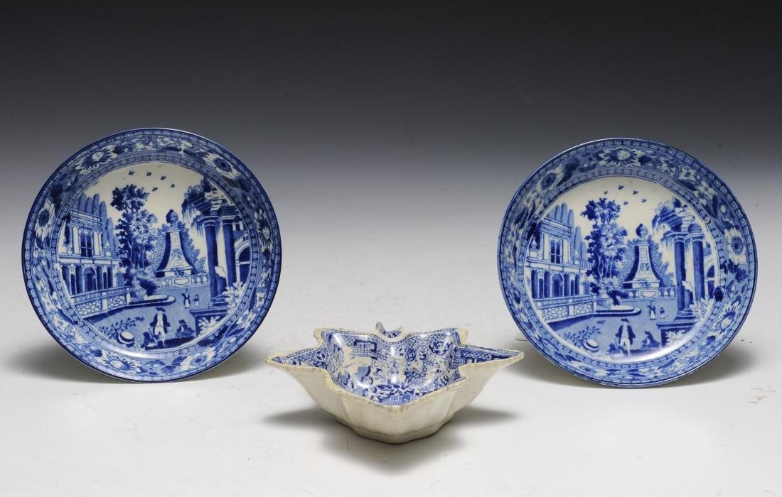 Three English Salt Glaze Bowls, Late 18th - 19th C