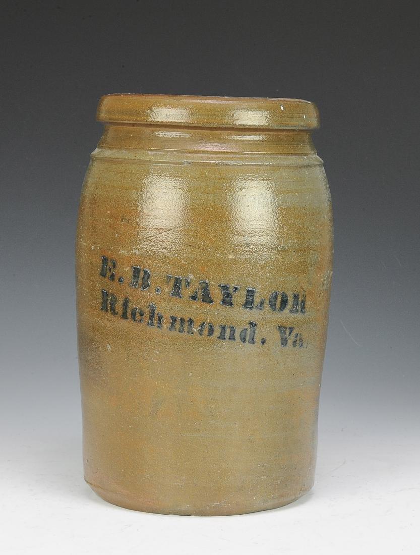 A Salt Glaze Crock from E.B. Taylor Richmond, VA