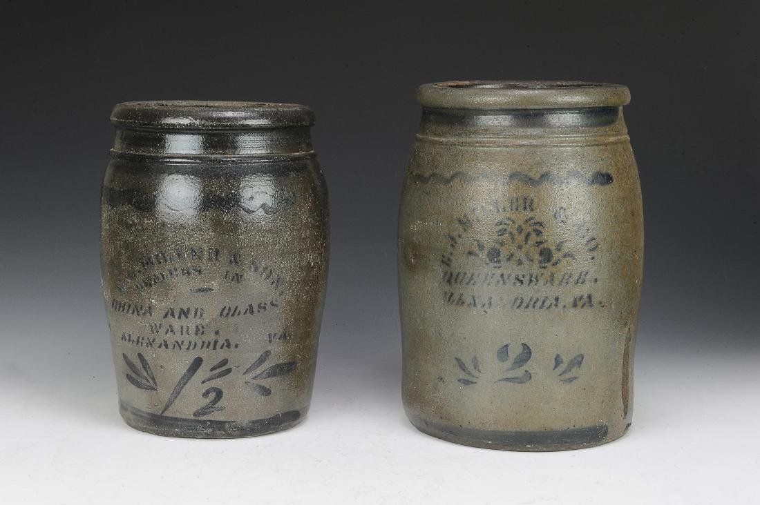 Two E J Miller & Co. Alexandria, VA Crocks