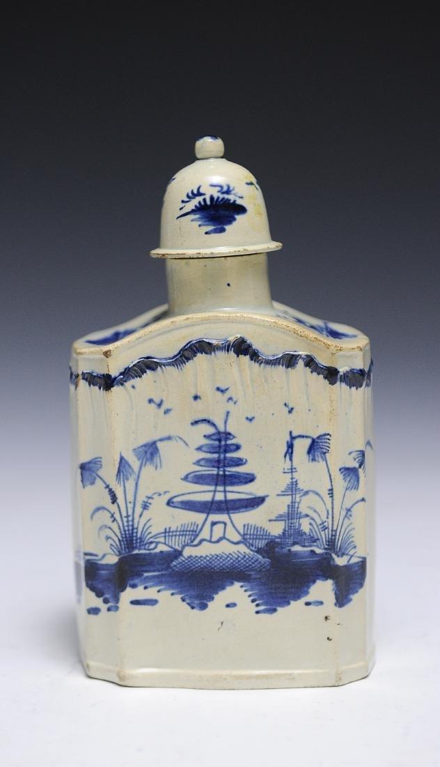 An 18th Century English Salt Glaze Tea Caddy