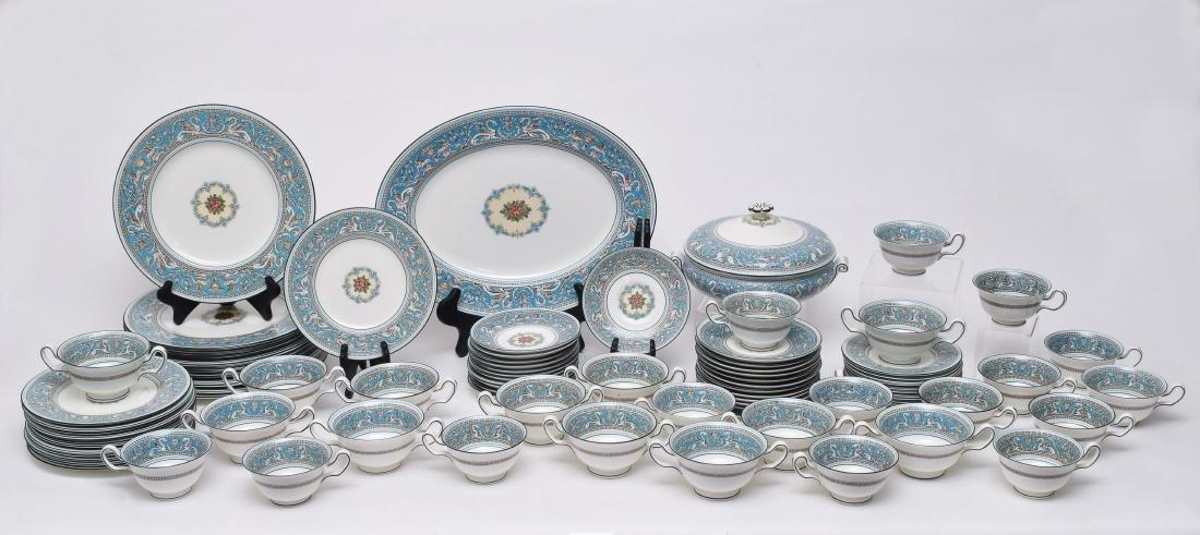 90 Piece Wedgwood Florentine Turquoise China