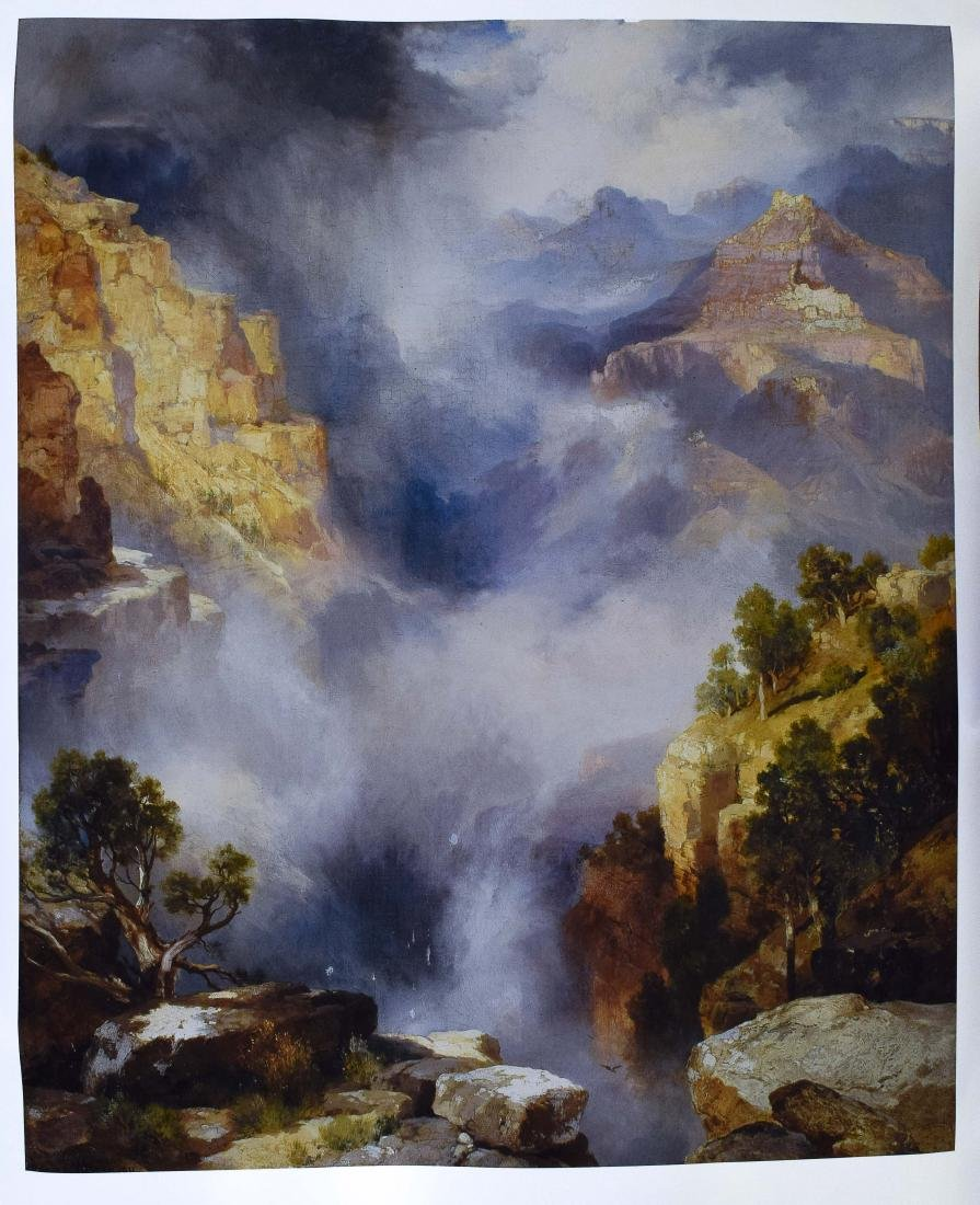 "Thomas Moran Print, ""Mist In The Canyon"""