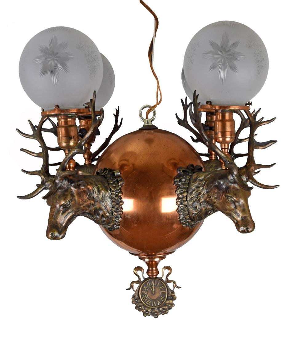 RARE Elks Lodge Chandelier Circa 1895