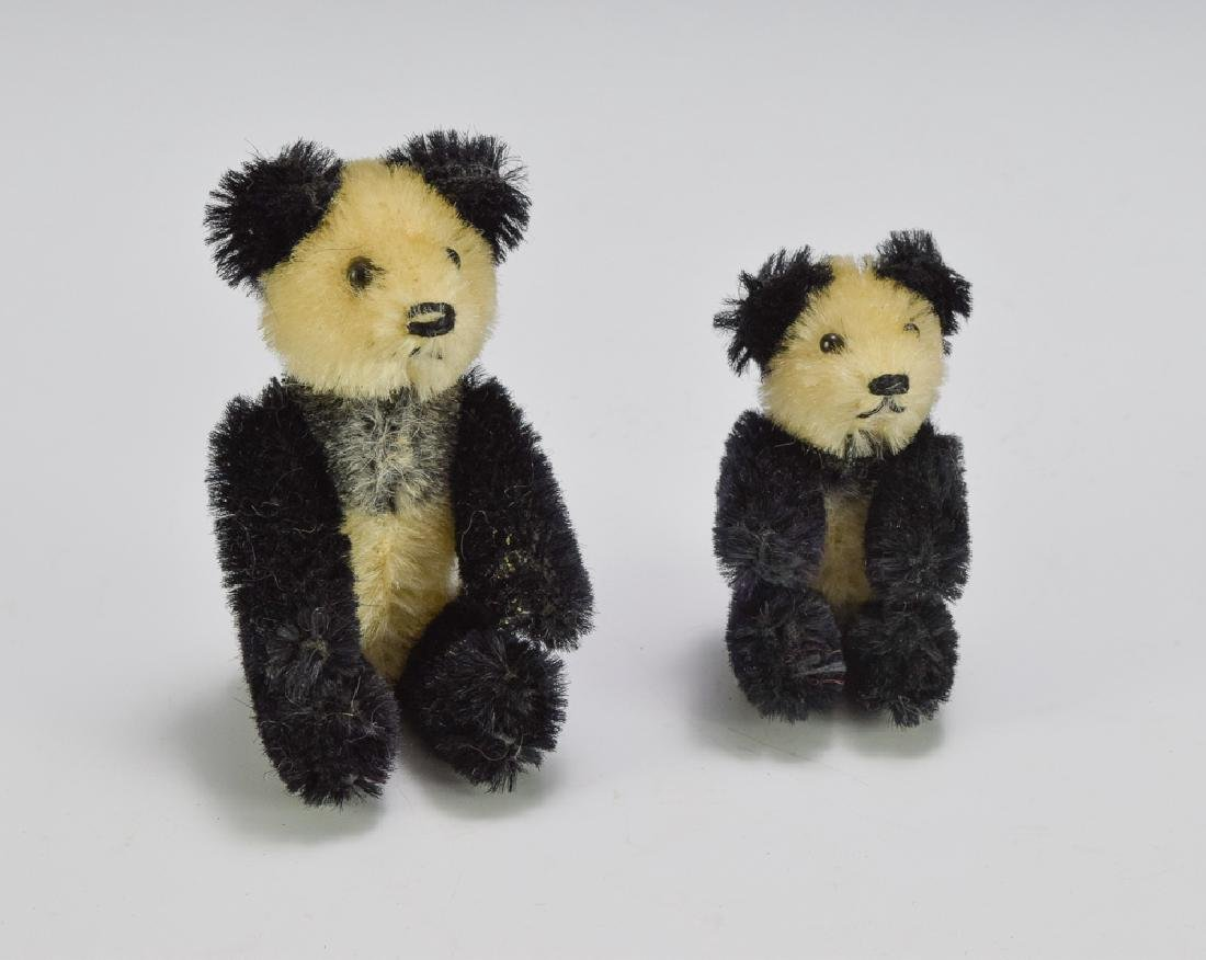 Two Schuco Miniature Jointed Pandas