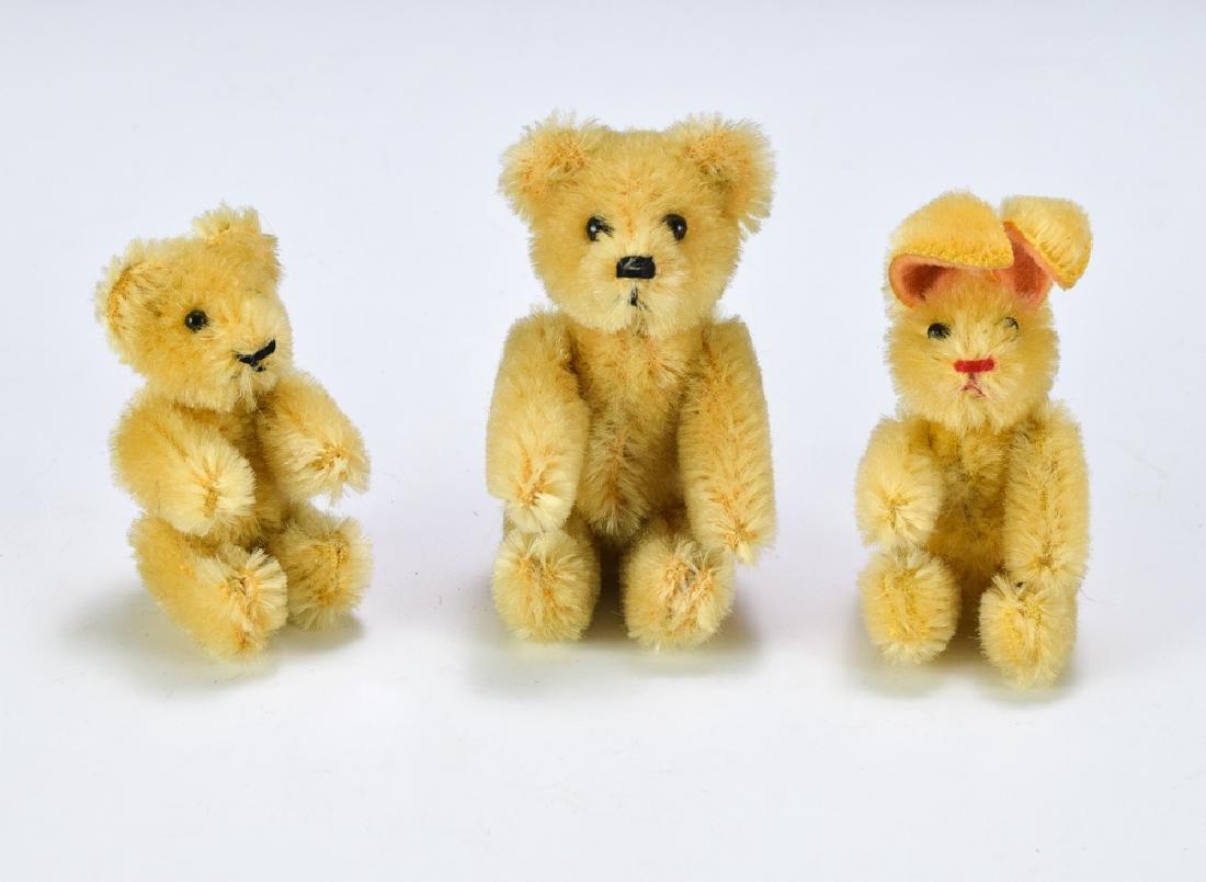 Three Schuco Miniature Jointed Animals