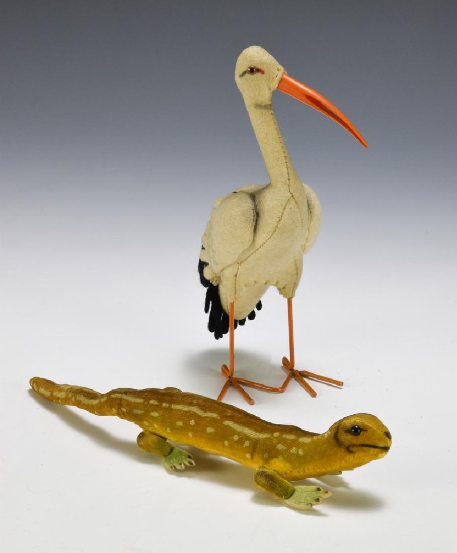 Steiff Stork & Lizard