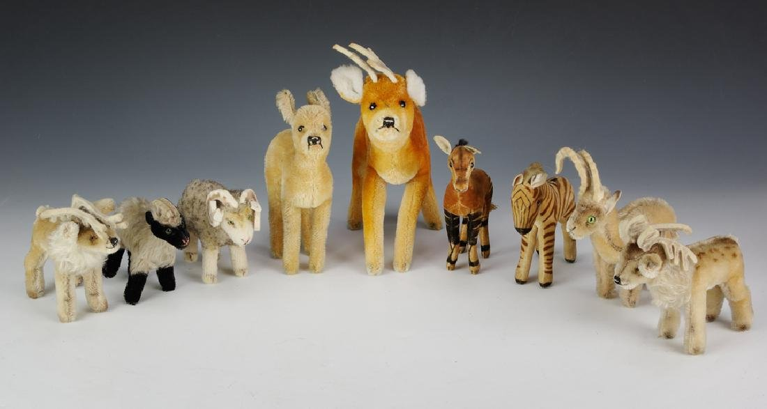 Group of 9 Steiff Animals