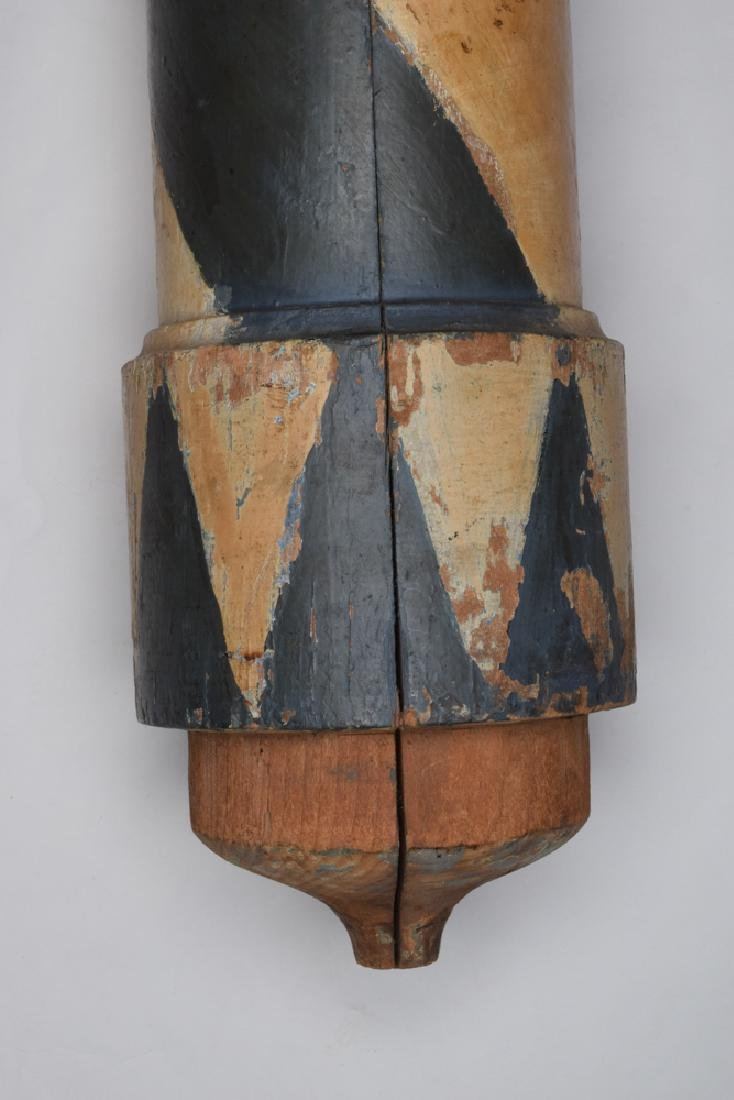 Wood Barber Pole, Late 19th - Early 20th Century - 2