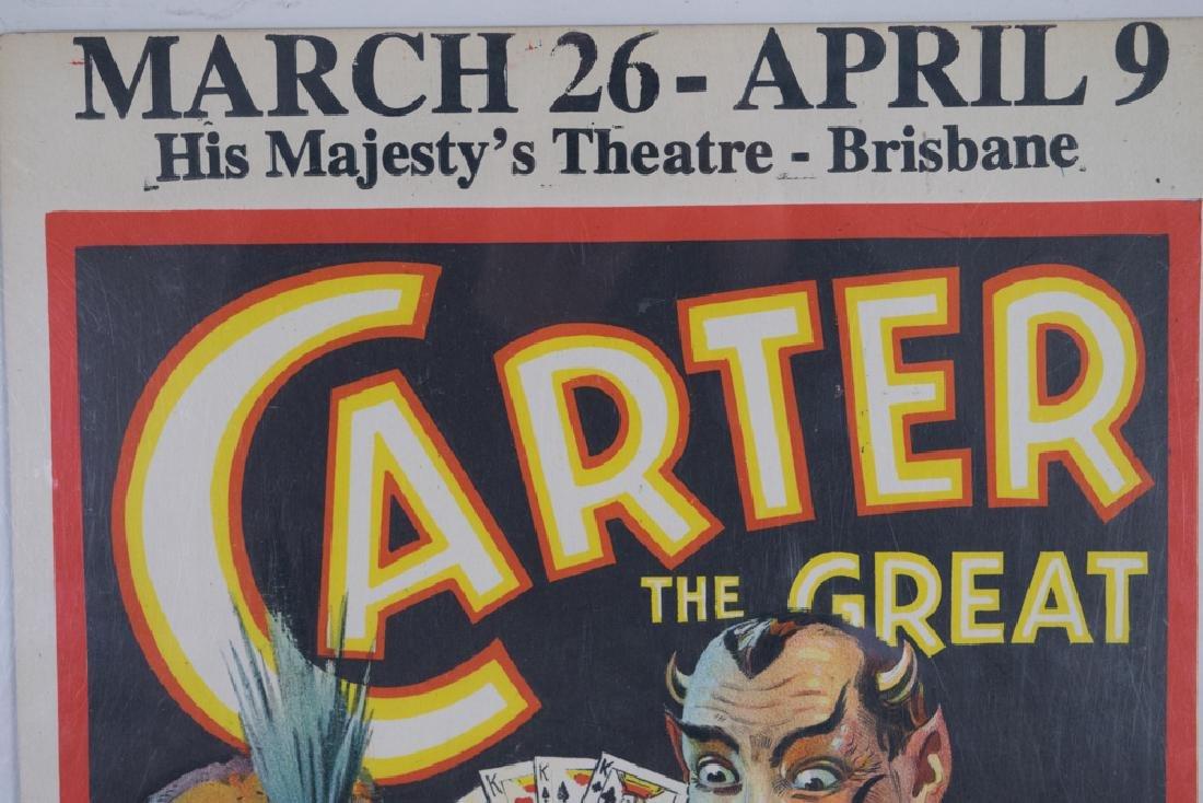 Carter the Great Magician Window Card - 3