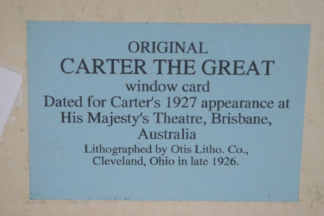 Carter the Great Magician Window Card - 4