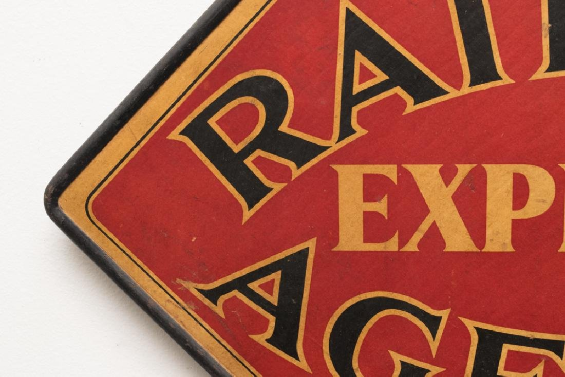 Two-Sided Railway Express Agency Hanging Sign - 2