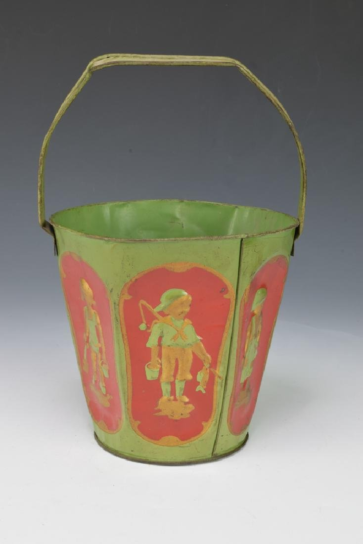 Embossed Tin Sand Pail - 7