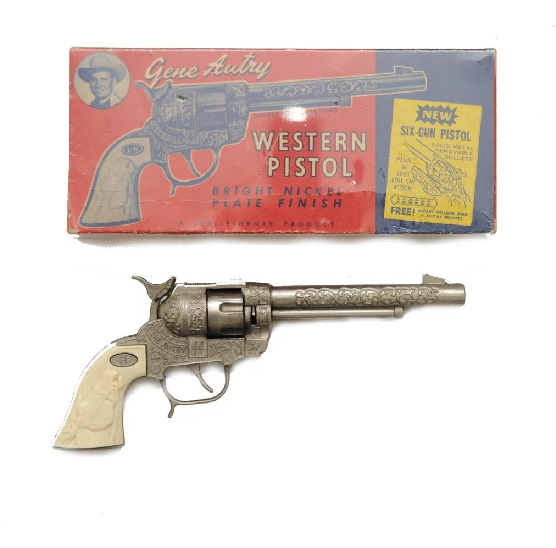 Gene Autry Cap Gun w/ Box by Leslie Henry