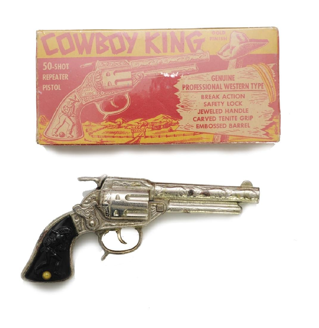 Boxed Cowboy King Cap Gun by J&E Stevens