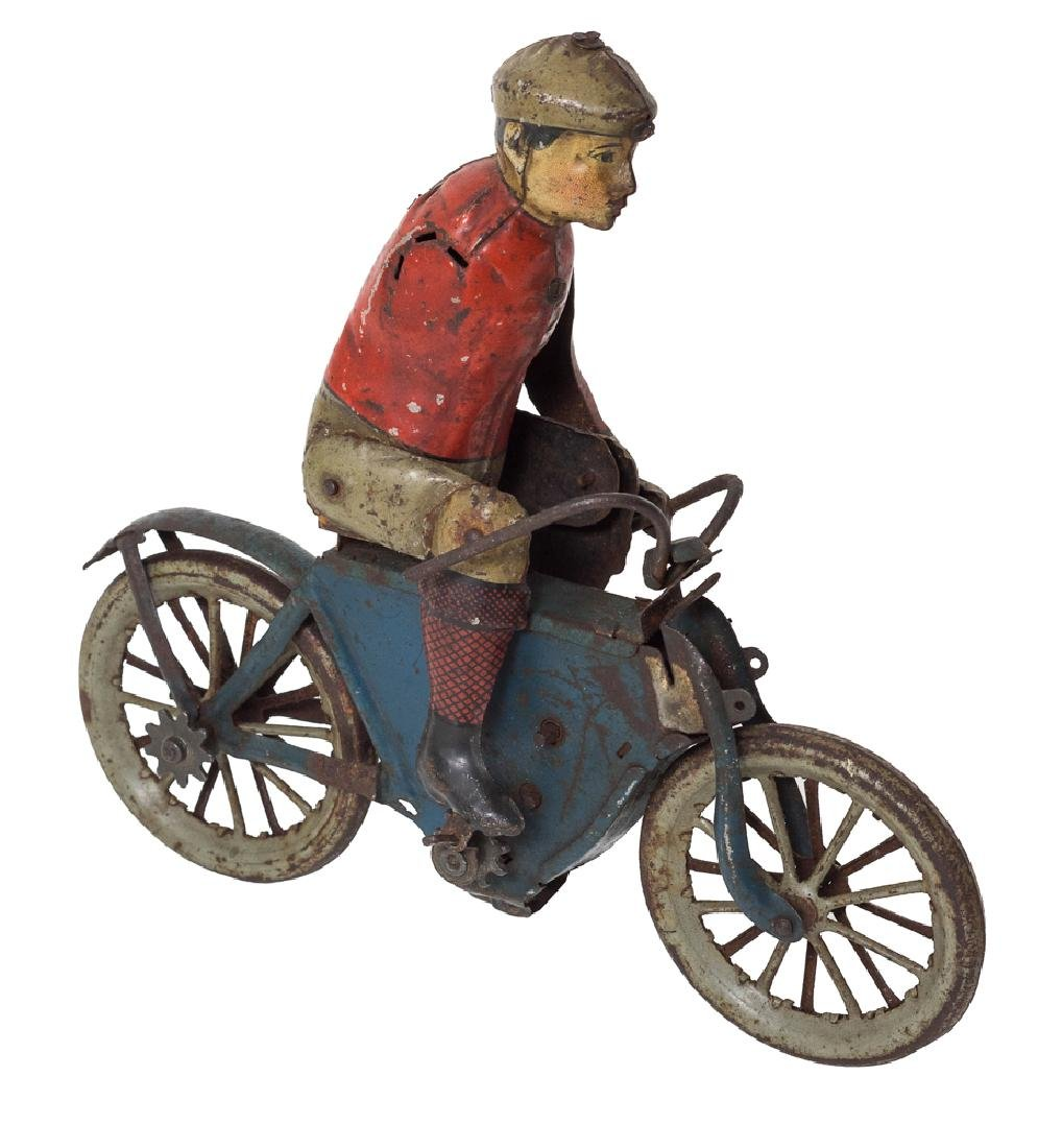 Gunthermann Tin Clockwork Motorcycle