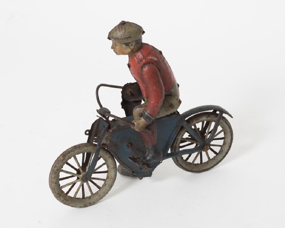 Gunthermann Tin Clockwork Motorcycle - 2
