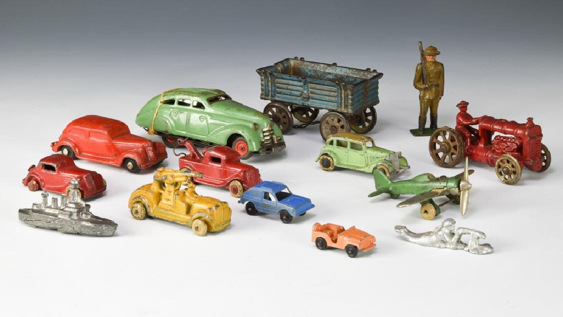 Group of 14 Miscellaneous Toy Vehicles