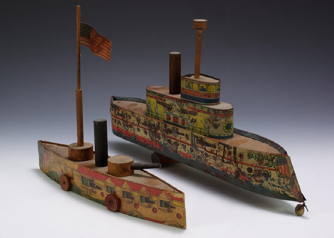 2 Lithographed Boats by Converse