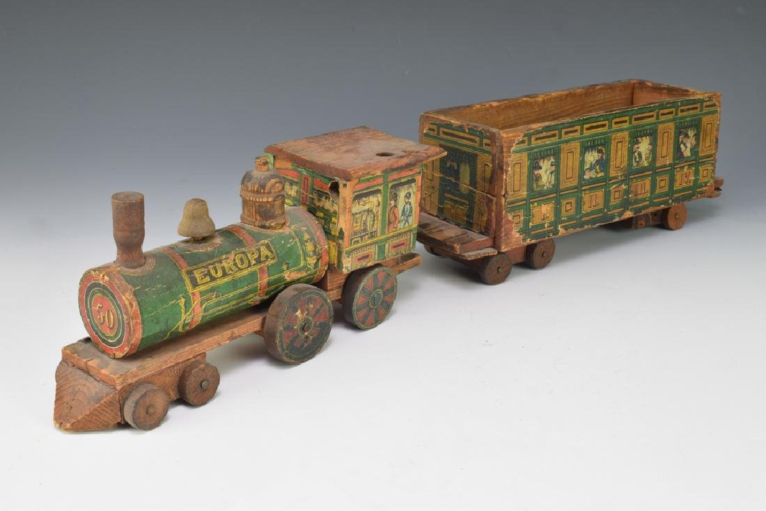 2 Paper Lithographed Toy Trains - 2