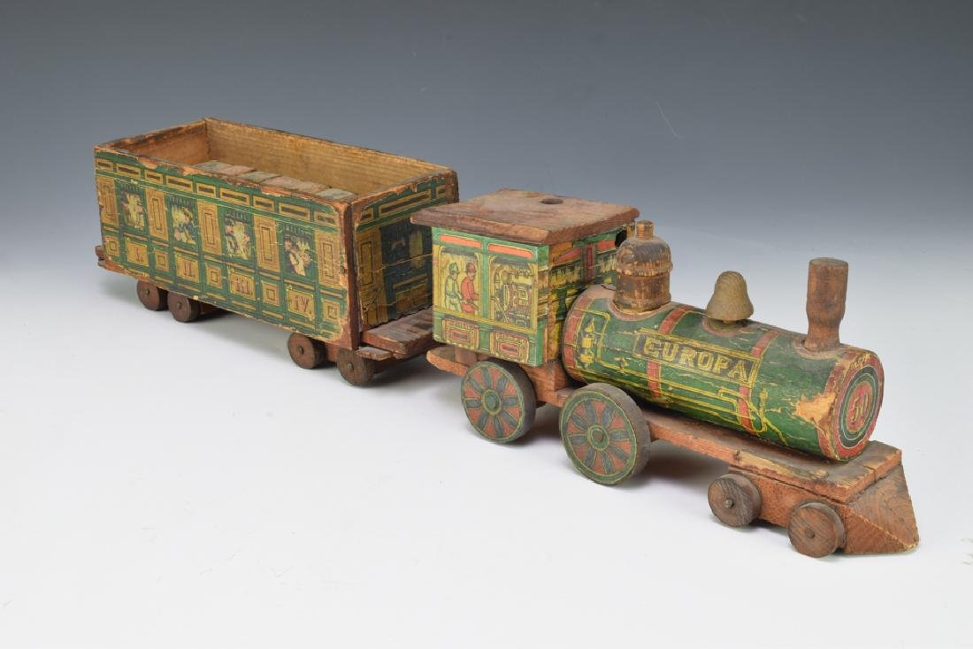 2 Paper Lithographed Toy Trains - 3