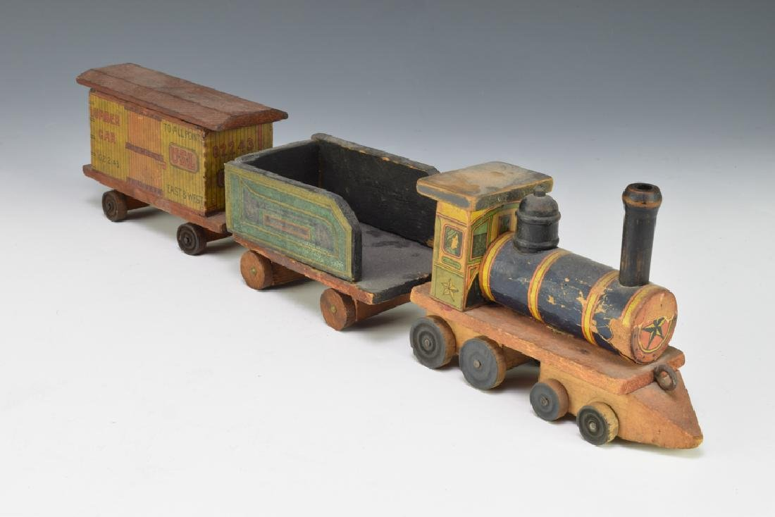 2 Paper Lithographed Toy Trains - 5