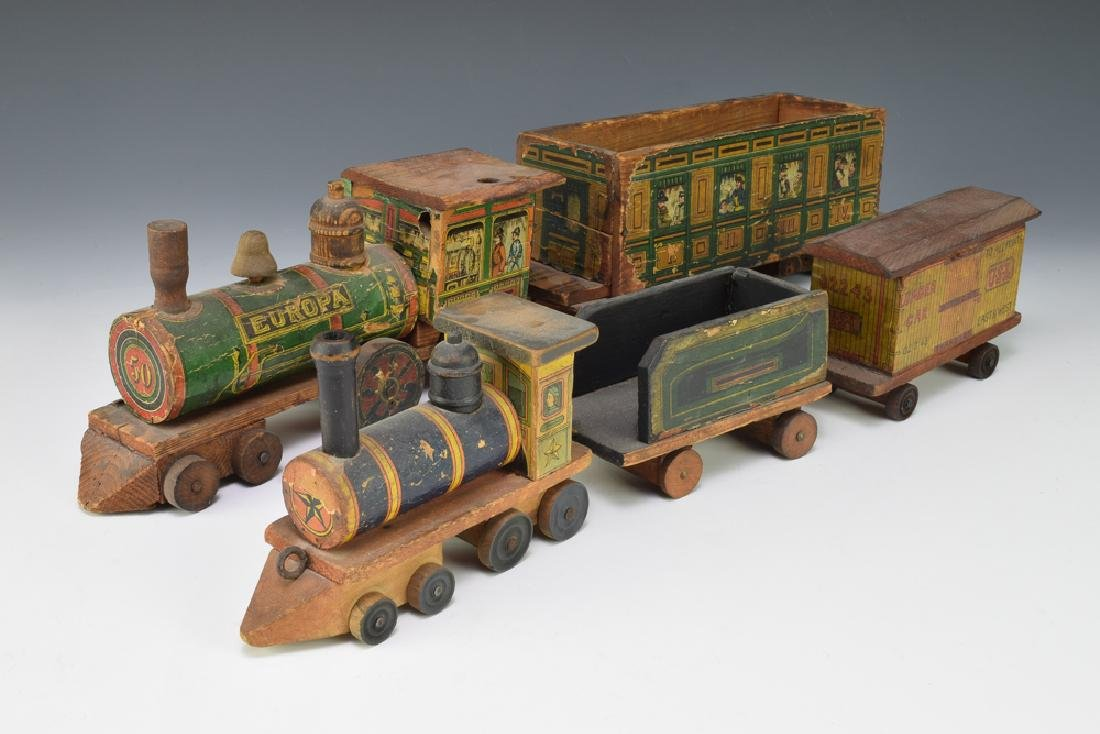 2 Paper Lithographed Toy Trains - 6