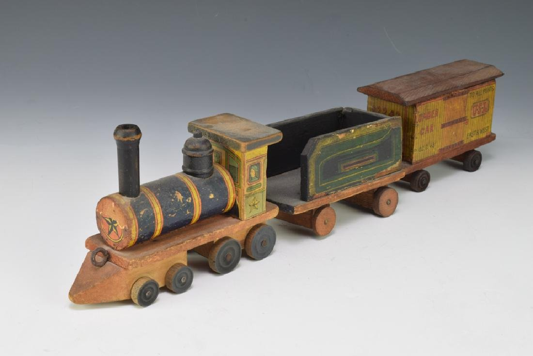 2 Paper Lithographed Toy Trains - 9