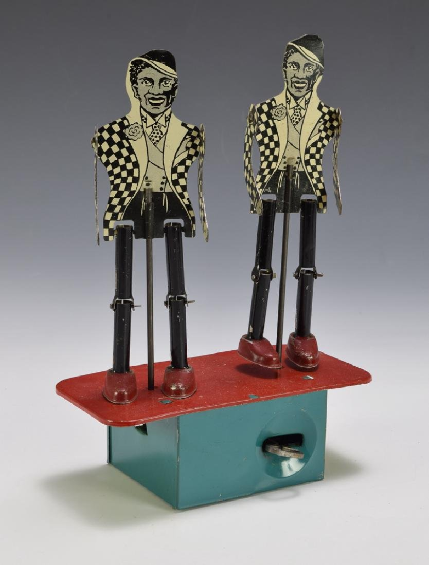 Double Black Jitter-Bug Dancers Tin Windup Toy