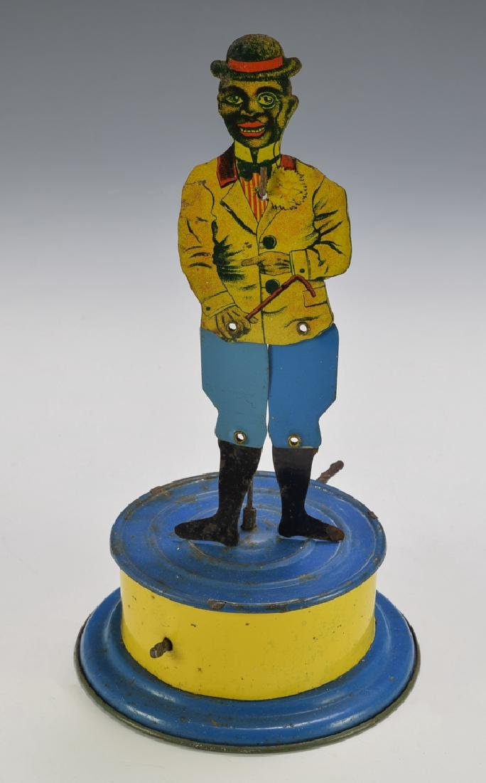 Tin Black Jigger Toy, Made in Germany, Circa 1920
