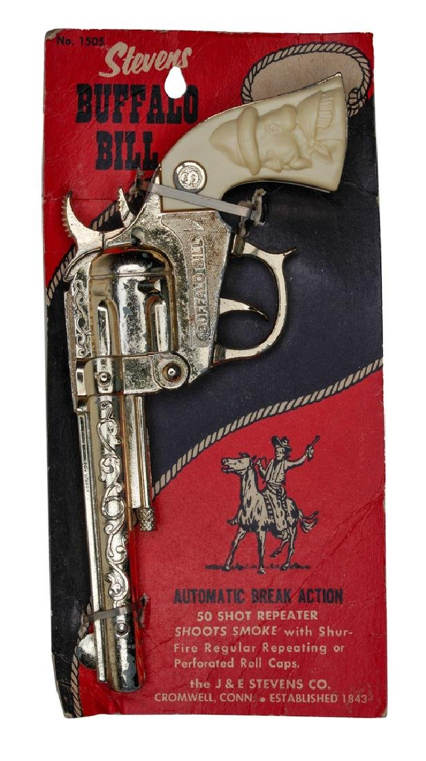 Stevens Buffalo Bill Cap Gun on Card