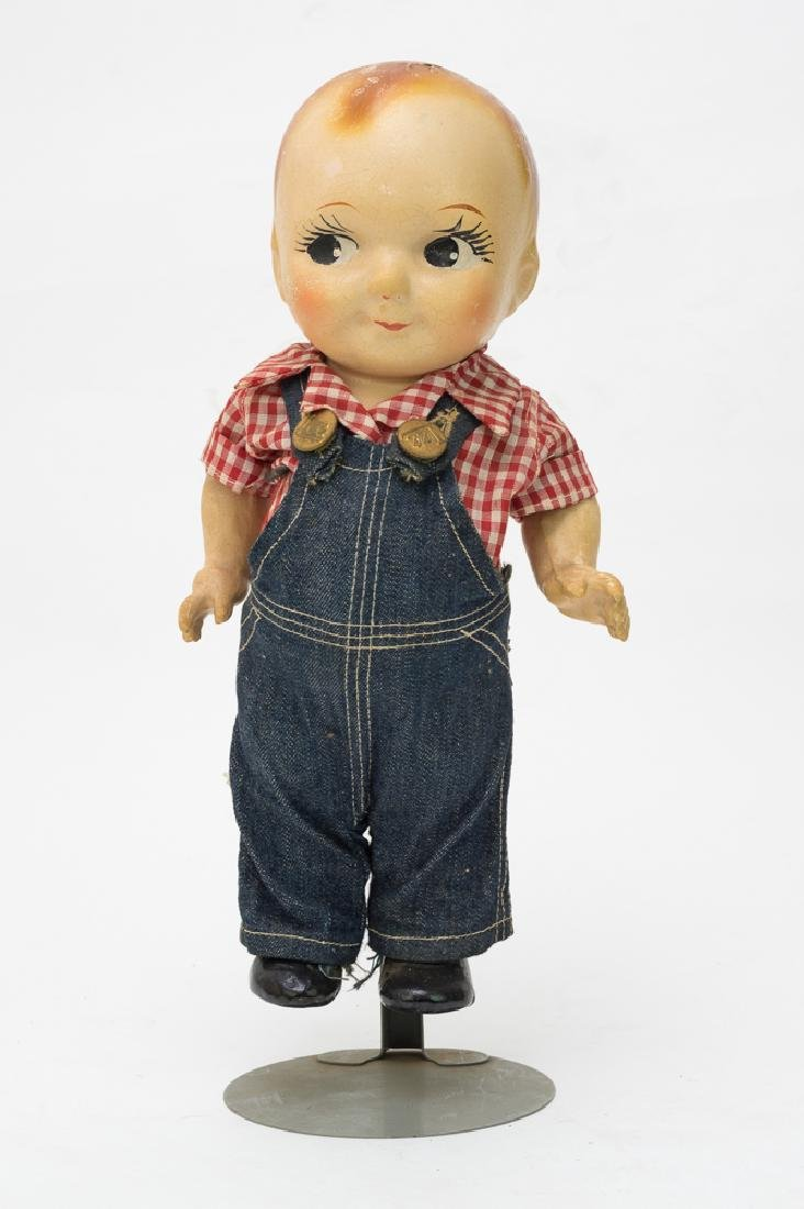 Composition Buddy Lee Doll w/ Overalls