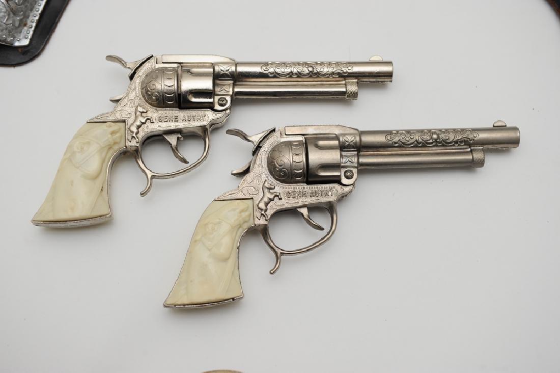 "Gene Autry ""Flying A Ranch"" Holster & Guns - 3"