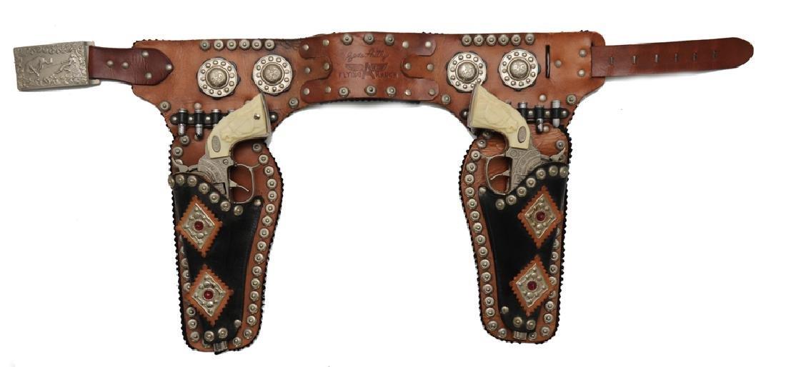 """Gene Autry """"Flying A Ranch"""" Holster & Cap Guns"""