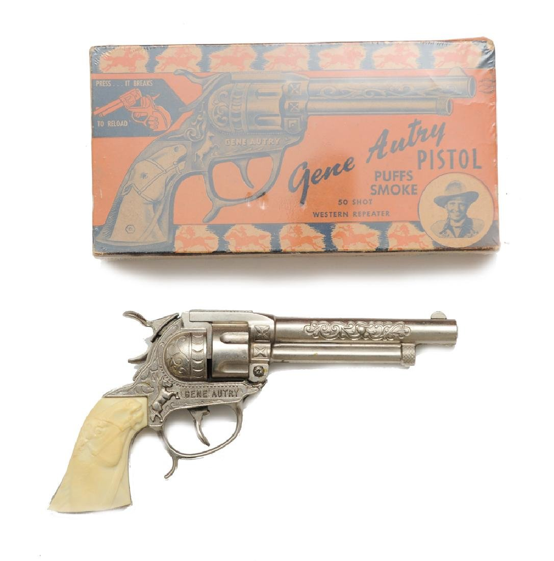 Gene Autry Cap Pistol by Leslie Henry w/ Box