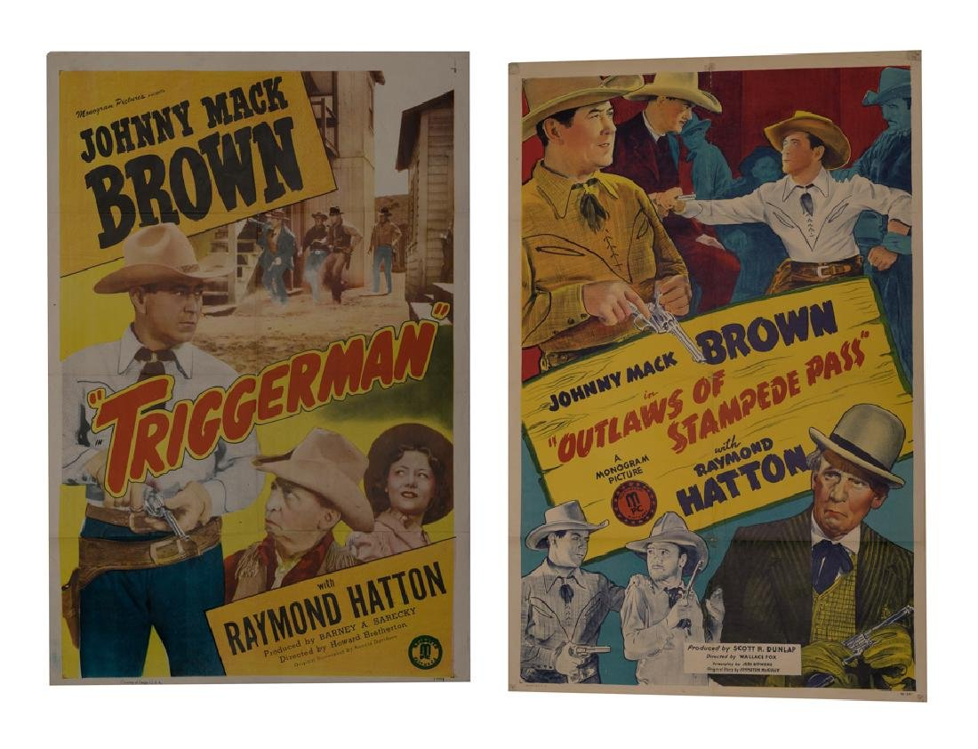 Set of 2 Johnny Mack Brown Movie Posters
