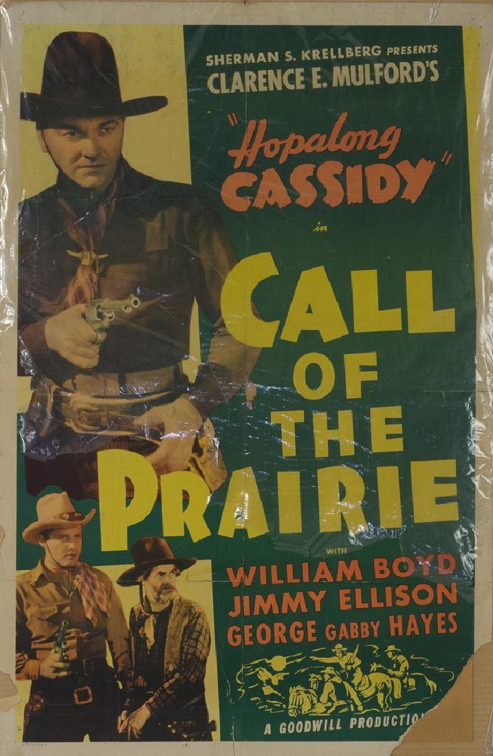 "Hopalong Cassidy ""Call of the Prairie"" Poster"