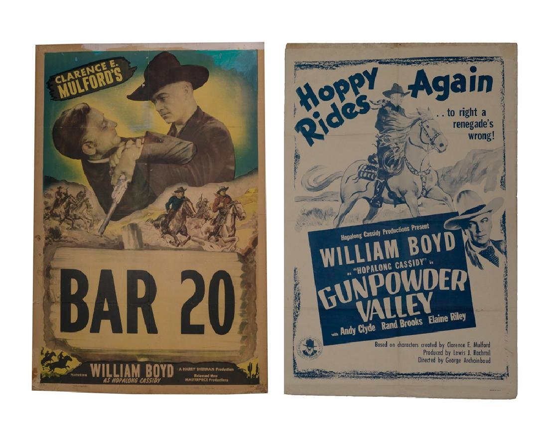 Set of 2 Hopalong Cassidy Movie Posters