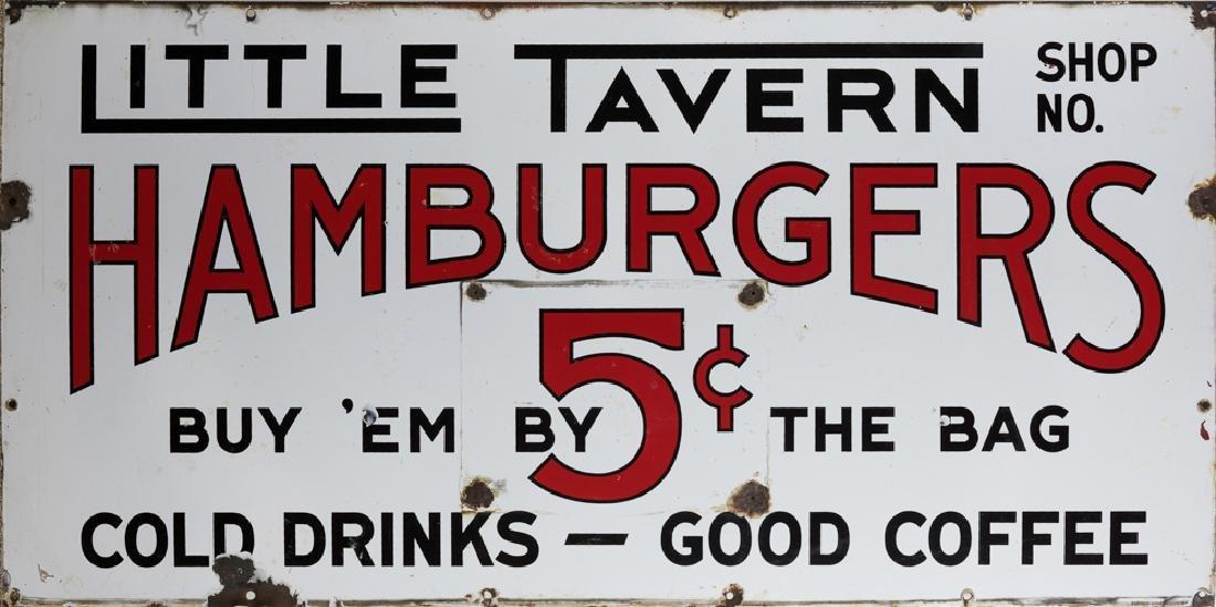 Rare, Early Porcelain Little Tavern Sign