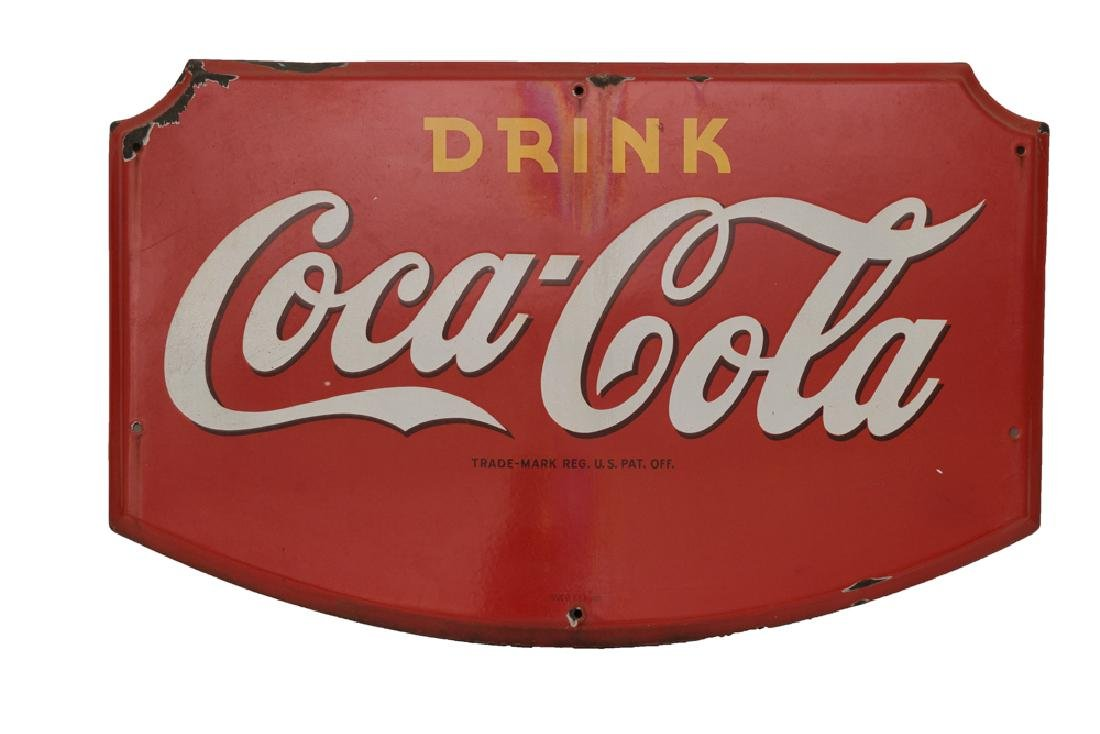 Coca Cola Porcelain Sign, Dated 1941