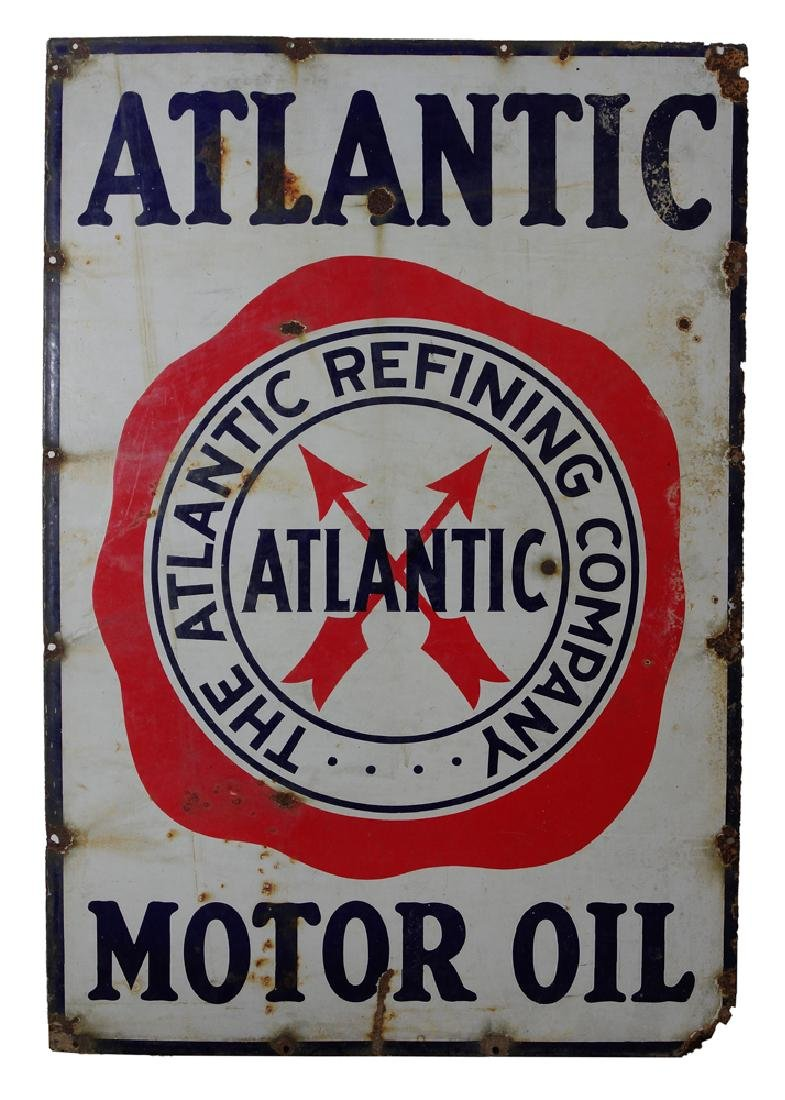 Porcelain Atlantic Richfield Motor Oil Sign