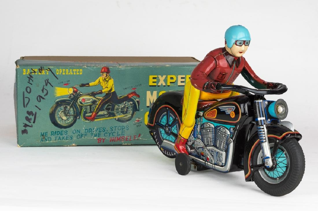 Boxed Expert Motorcyclist by Masudaya
