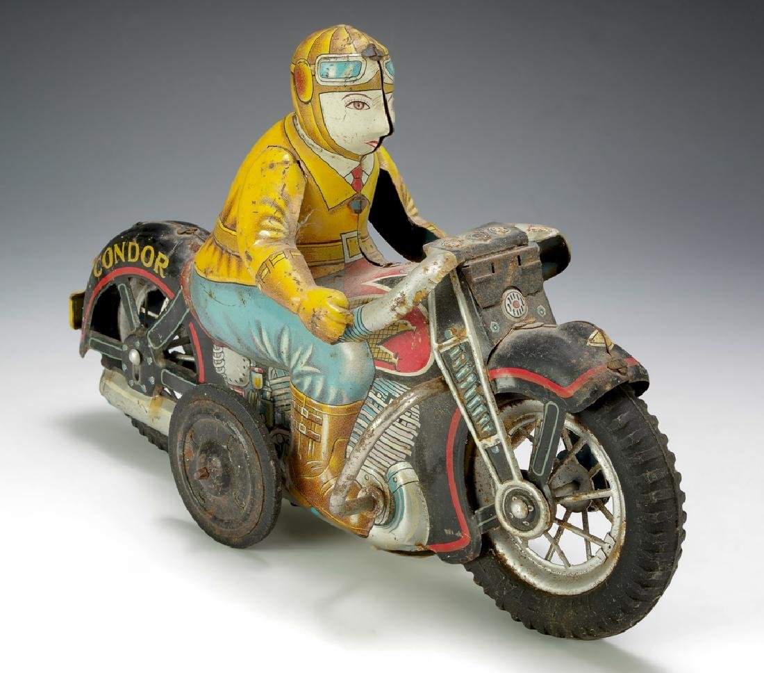 Tin Friction Condor Motorcycle by IY Metal Toys