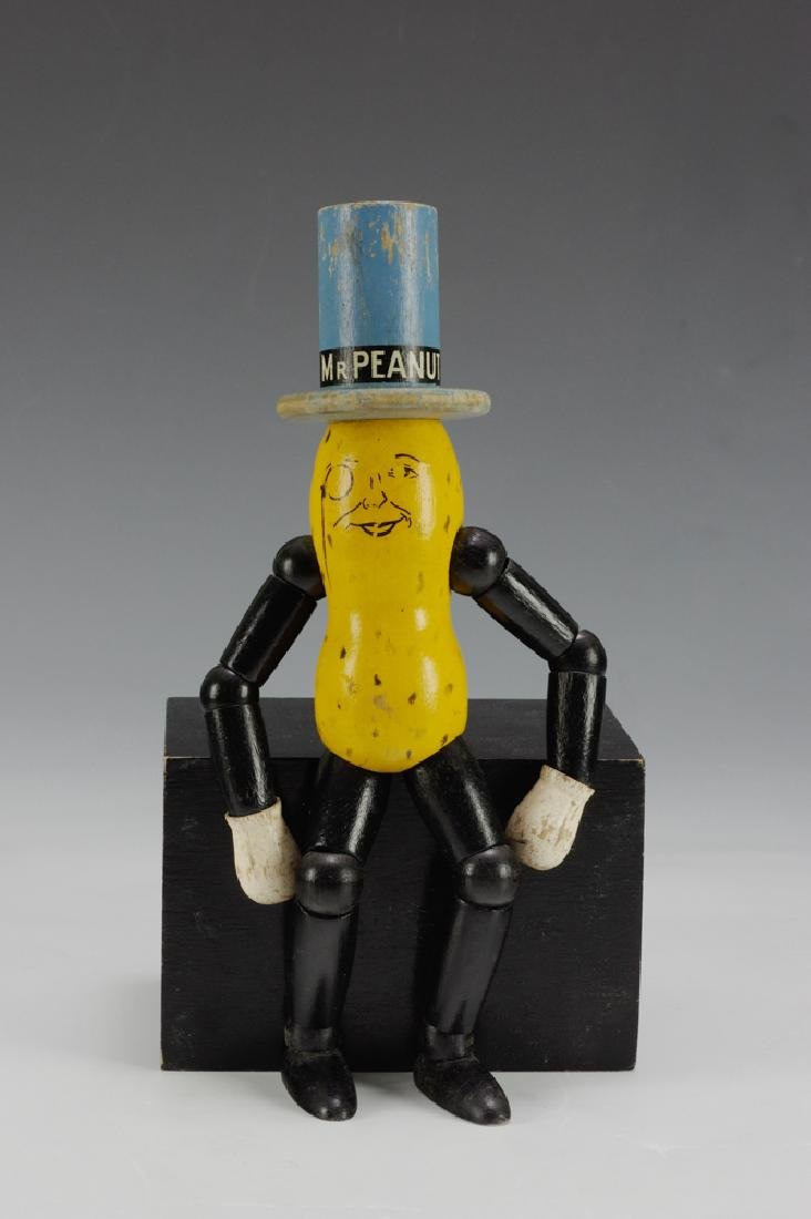 Mr. Peanut Wood Figure by Ideal