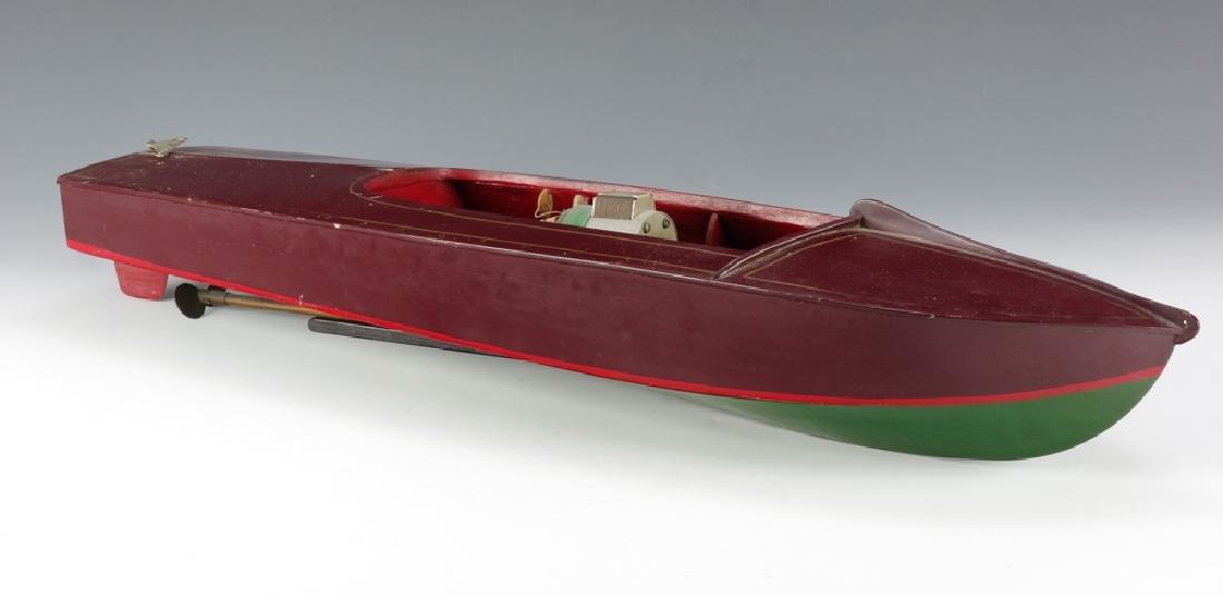 Wooden Speedboat w/ Electric Motor