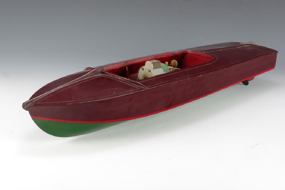 Wooden Speedboat w/ Electric Motor - 2