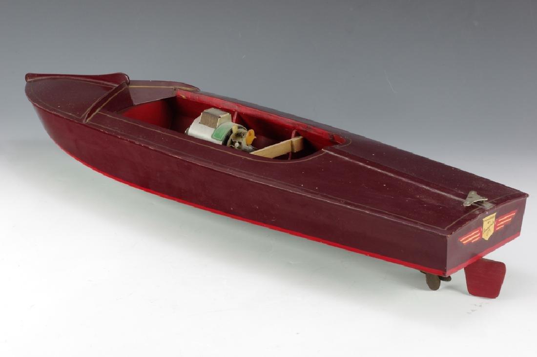 Wooden Speedboat w/ Electric Motor - 3