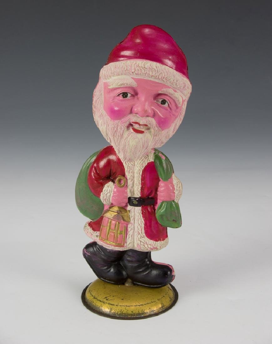 Windup Celluloid Santa Nodder