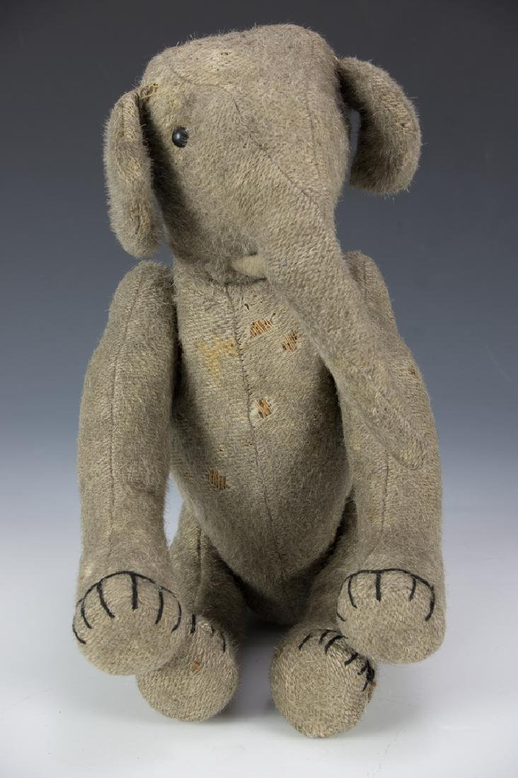 Rare Early Burlap Jointed Elephant Circa 1910