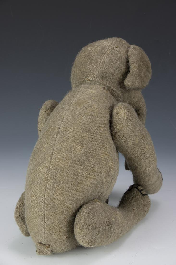 Rare Early Burlap Jointed Elephant Circa 1910 - 2