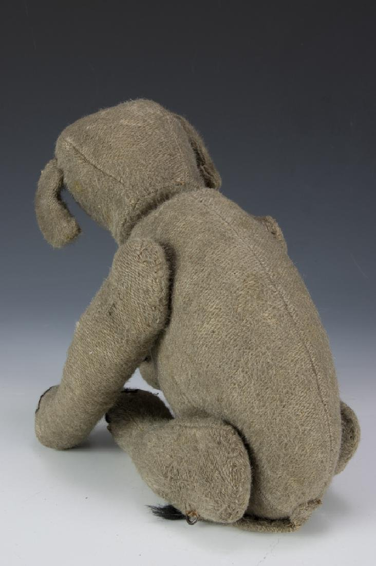 Rare Early Burlap Jointed Elephant Circa 1910 - 3